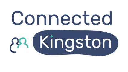 Connected Kingston logo stacked