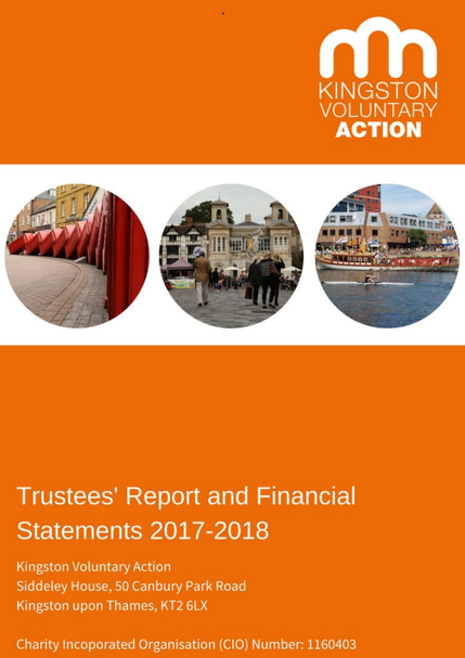 Front cover of trustee report